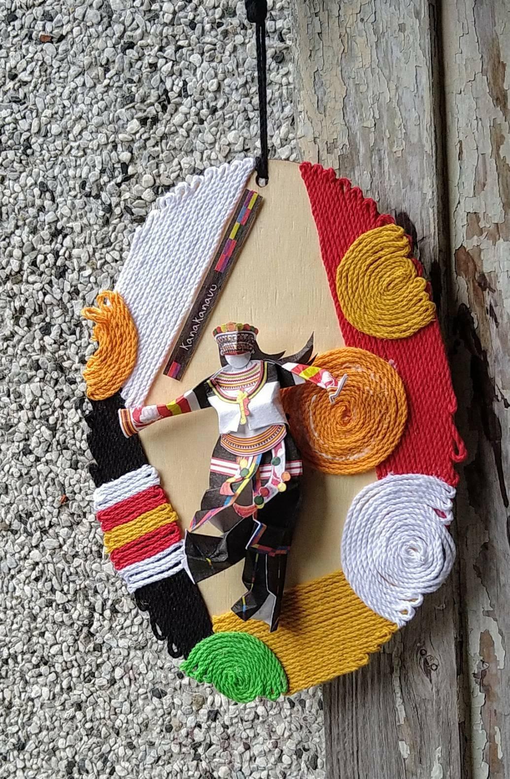 卡那卡那富族紙藝木掛飾創作